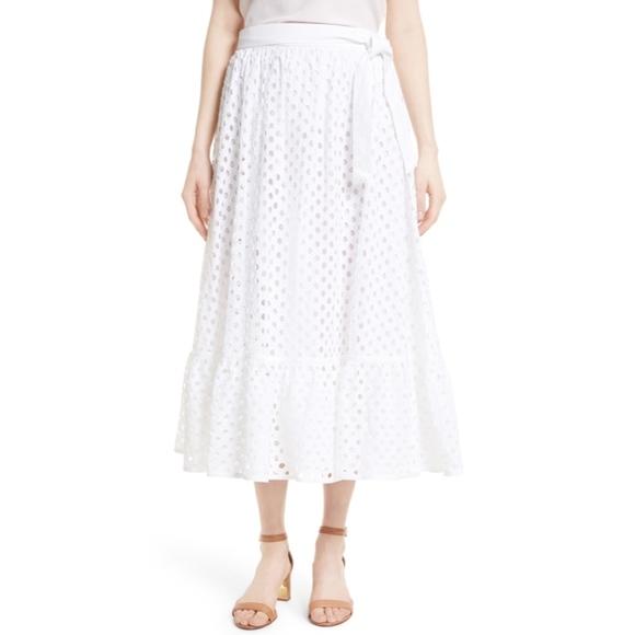 7e2668f6bf Tory Burch Skirts | Hermosa Eyelet Midi Skirt | Poshmark